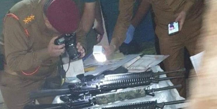 عکس، کشف و ضبط یک خودروی حامل سلاح در بغداد