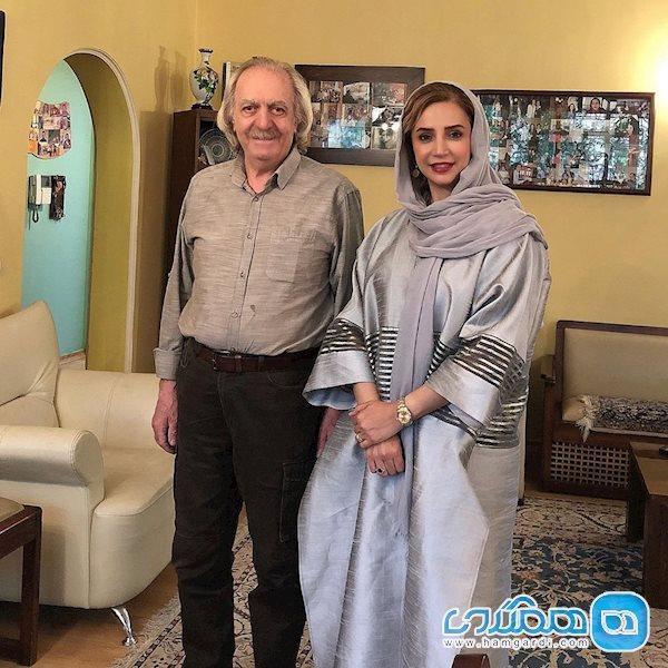 شبنم قلی خانی در کنار کارگردان سربداران
