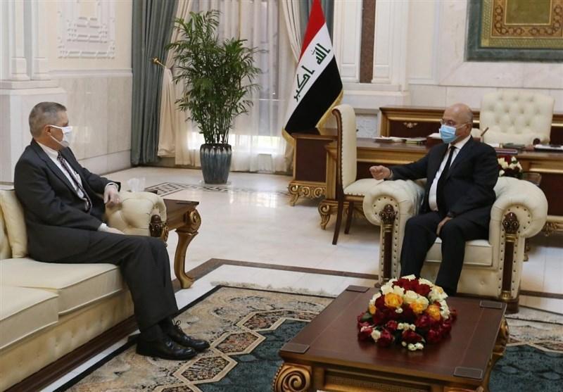 عراق، ملاقات سفیر آمریکا با برهم صالح و آرزوی وی درباره ترامپ