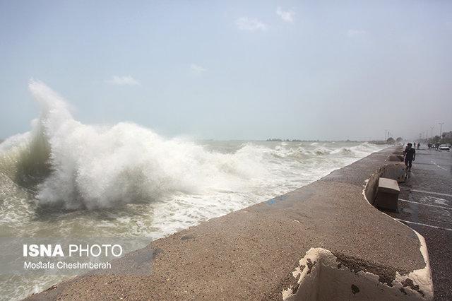 هشدار هواشناسی نسبت به افزایش ارتفاع موج در شمال و جنوب کشور