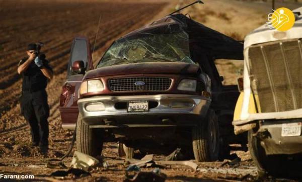 (تصاویر) سانحه مرگبار رانندگی در جنوب کالیفرنیا
